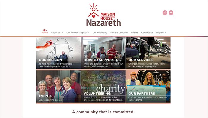 Maison Nazareth desktop view