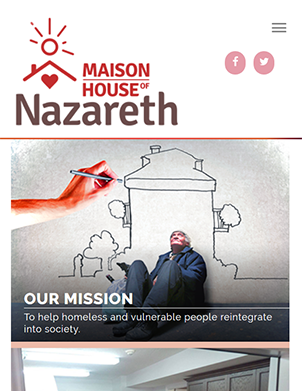 Maison Nazareth mobile view