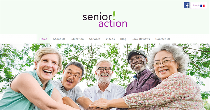 Senior Action desktop view