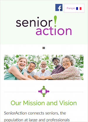 Senior Action mobile view
